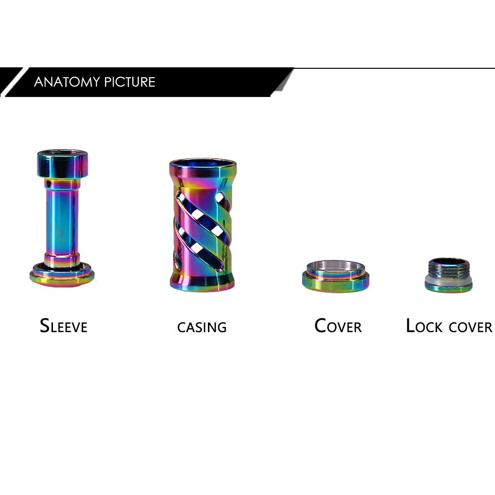 DEUKIO HN0726 DIY Refit Colorful Fishing Reel Handle Knob Grip for SDA Brand Rocker Arms Bait Casting Reel Accessories