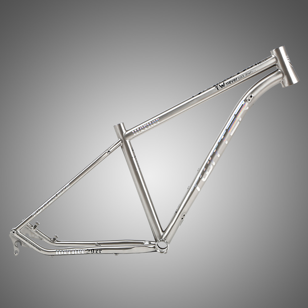 Direct Bicycle Parts Supplier in China TWITTER WERNER 27.5'' 29'' Titanium Alloy Mountain Bike Frame 15.5'' 17'' 19''