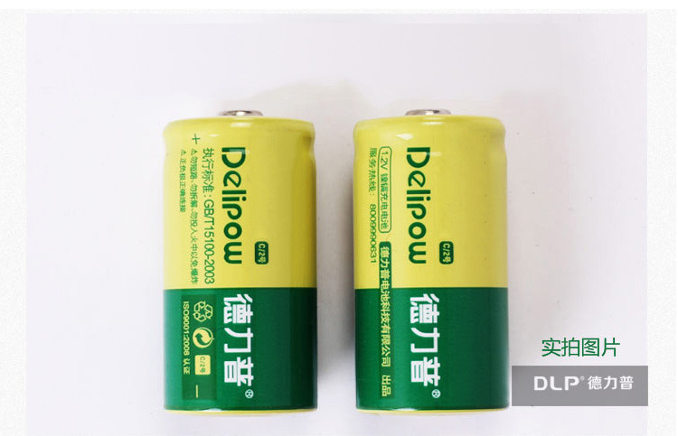 Delipow 2000mAh Type C Rechargeable Battery for Flashlight and Radio 1Pcs LR14AM2 Rechargeable Batteries