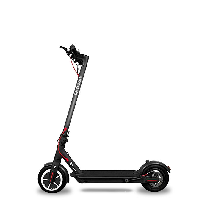 ESS001PS Portable & Foldable Electric Smart Scooter with Aluminum Alloy & Tubeless Rubber Tires APP Control