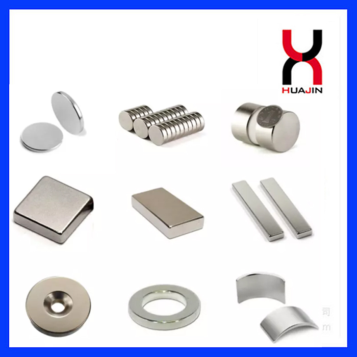 Permanent Sintered Rare Earth Neodymium Magnetic Material Strong Disc/Block/Cylinder/Countersunk/Arc NdFeB Magnet Rod/Ri