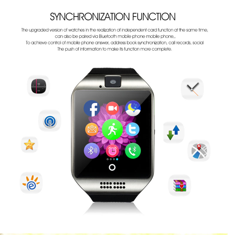 Large Memory Sport Bracelet Watch Sedentary Reminder Independent SIM Card Touch Screen