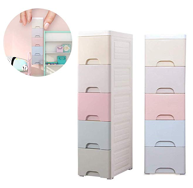 Small Storage Drawer Organizer Narrow Storage Cabinet for Bedroom Barthroom