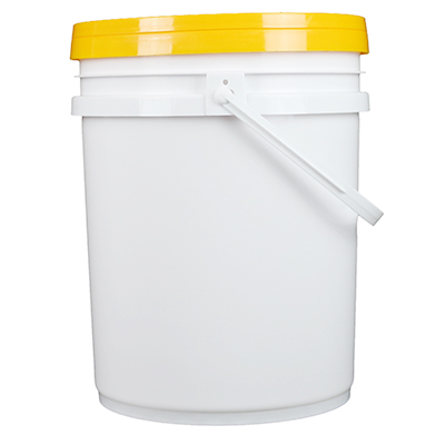 Multi-Purpose Chemical 5 Gallon White Plastic Bucket with Handle & Lid