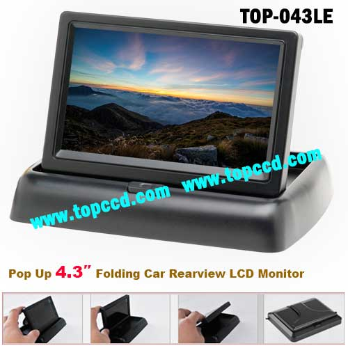 4.3 Inch Car Rear View Reversing Pop-up TFT LCD Monitor from Topccd (TOP-043LE)