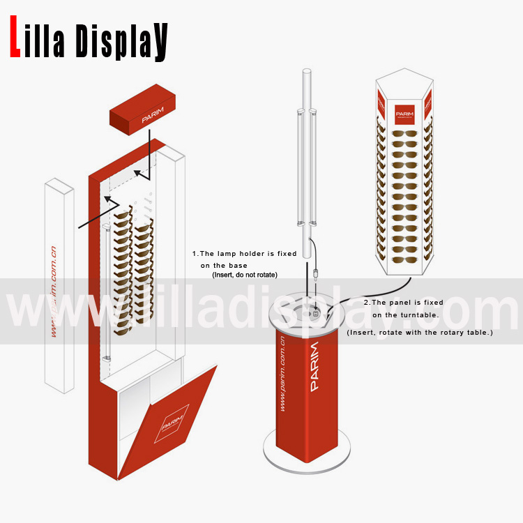 Lilladisplay- Optical Acrylic Eyewear Eyeglasses/Sunglasses Display Revolving Stand 20180206