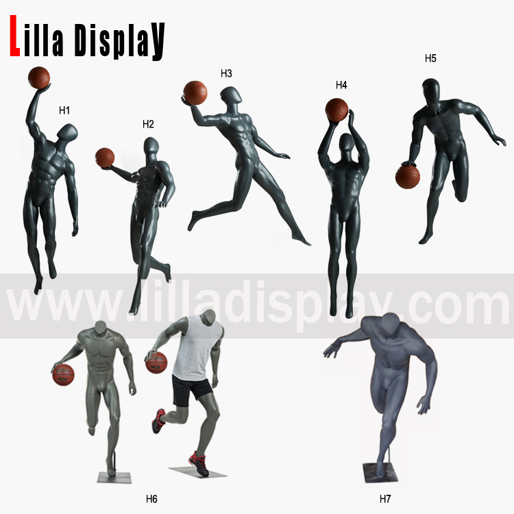 Lilladisplay-Grey Color Sport Playing Basketball Mannequins H-1 Collections