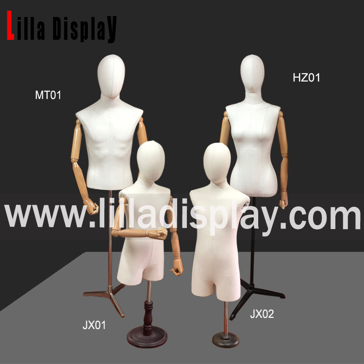 Lilladisplay- Canvas Model 03 Egghead Mannequin Fabric Dress Forms MT&HZ Collection