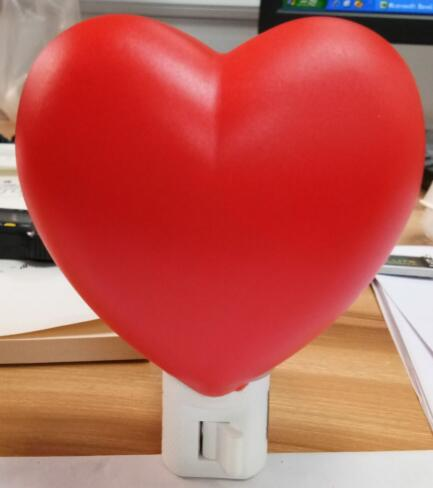 Red Heart LED Night Light, Campfire LED Nightlight