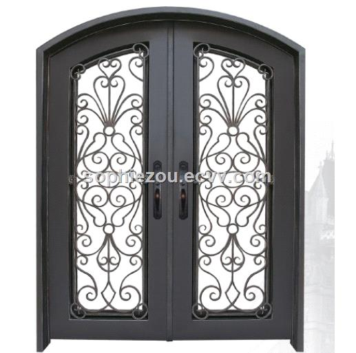 Wrought Iron Door EBD008B, Wrought Iron Security Door, Iron Entry Door, Iron Entrance Door, Main Doors, Steel Doors
