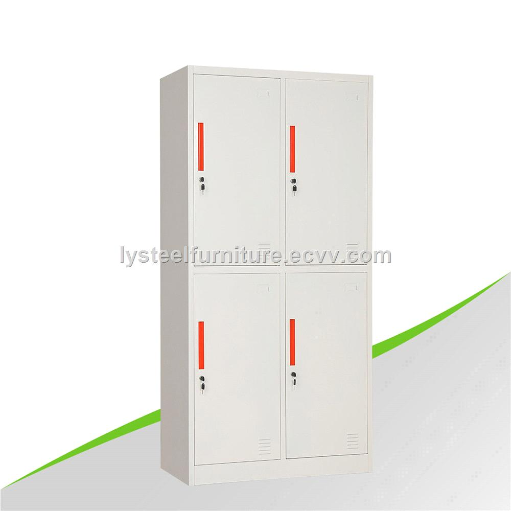 High Quality 4 Door Steel Wardrobe Locker