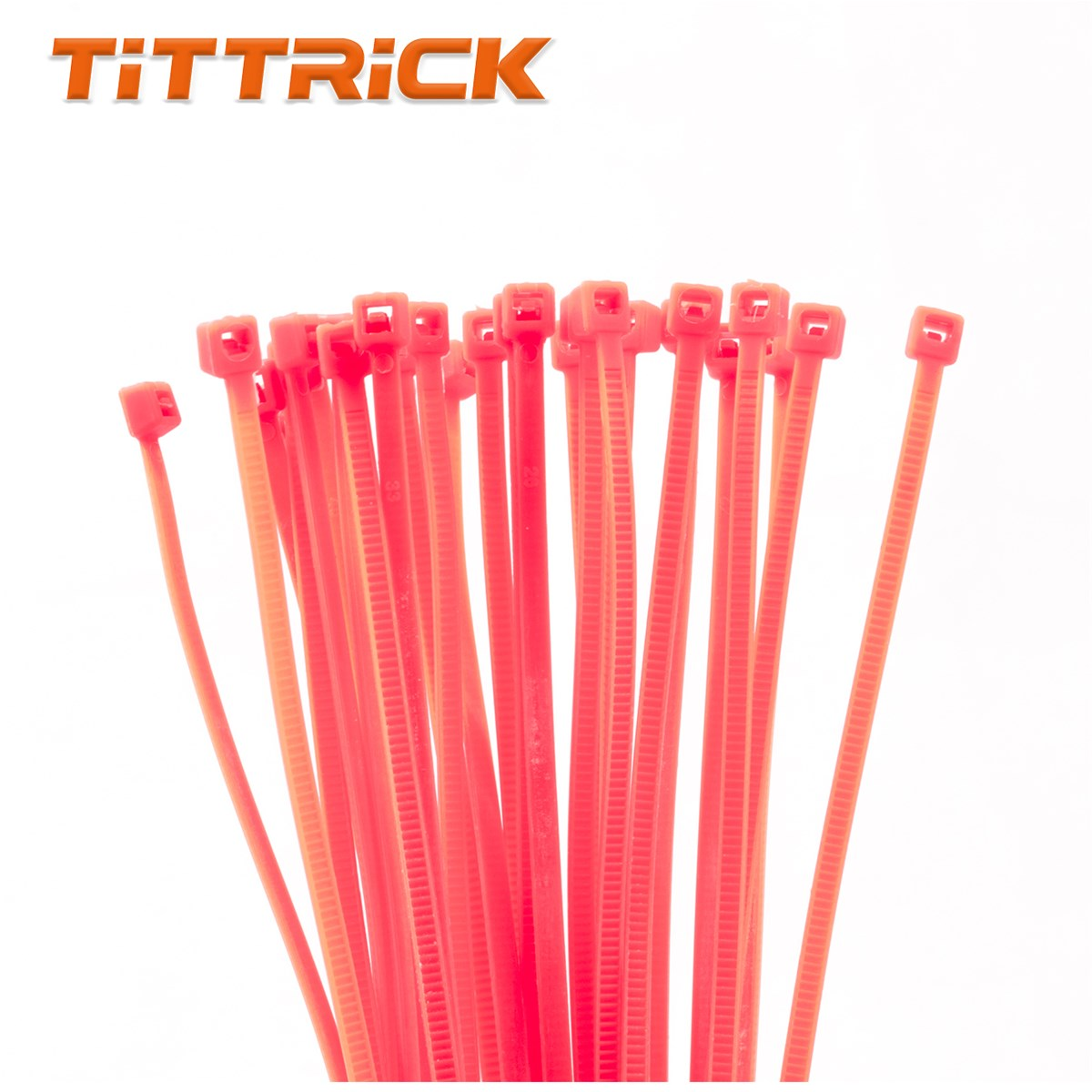 Tittrick 300mm Multi Color Self-Locking Flexible Plastic Cable Ties Nylon 66 Zip Cable Tie