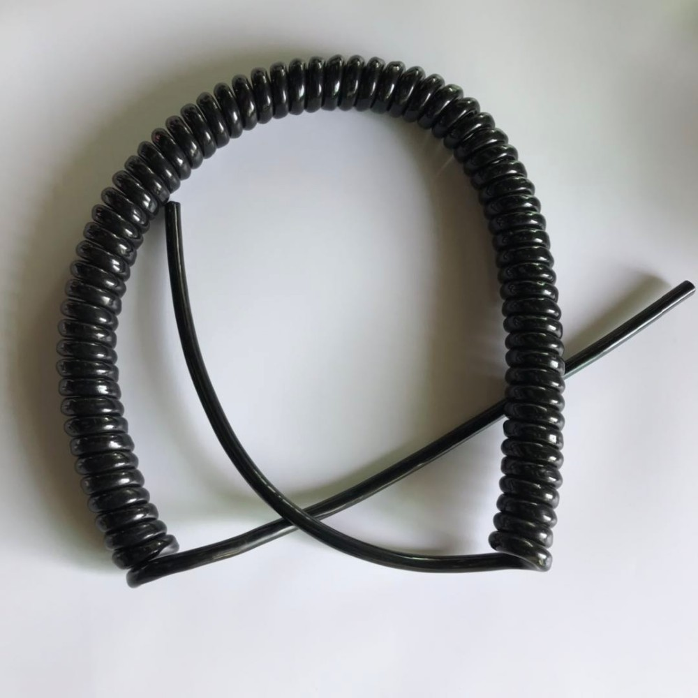 Flexible Spring Spiral PUR Cable