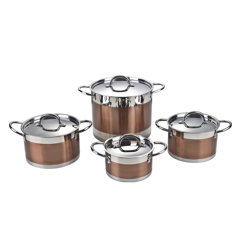 Stainless Steel Kitchen Casserole Saucepan Frypan Cookware Set