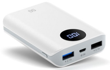 GUSGU Mini Charging Treasure Mobile Power Fast Charge Large Capacity Ultra-Thin Small Portable Flash Charge 10000 MAh