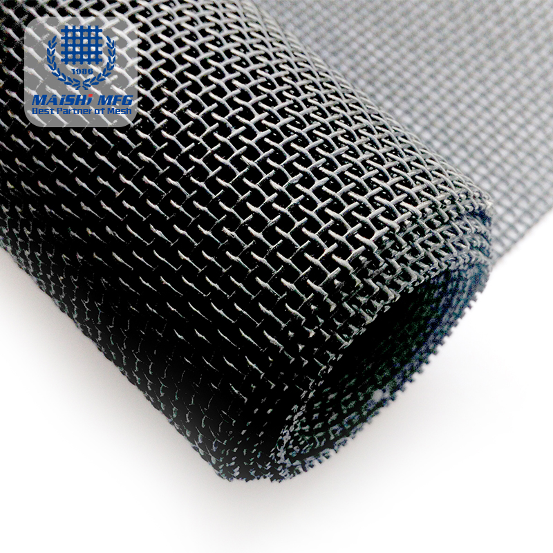 High-Strength Pure Black Security Screen Mesh
