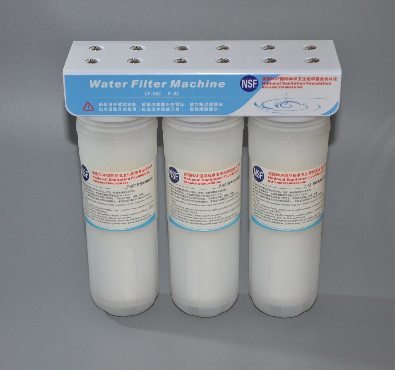 3 Stage Pre Filter System with NSF Standard to Protect Your Water Ionizer & Guarrantee Your Drinking Water