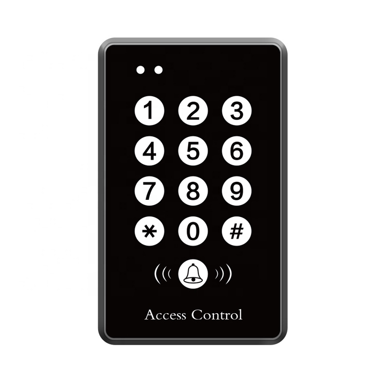 Standalone RFID Reader Access Control Keypad Wiegand 2000 User Door Access125khz 1356mhz Black Color