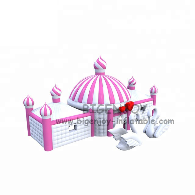 Inflatable Bubble Tent for Event New Design Swan White Color Commercial Wedding Inflatable Tent