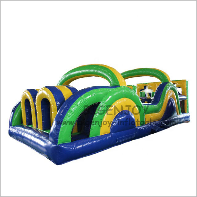 Manufacturer 15oc PVC Material Children Inflatable Playground Blow up Bounce Combo Obstacle Course