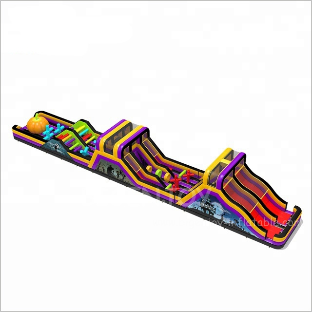 Halloween 36m Long Inflatable Sport Running Games for Adults Outdoor Obstacle Course