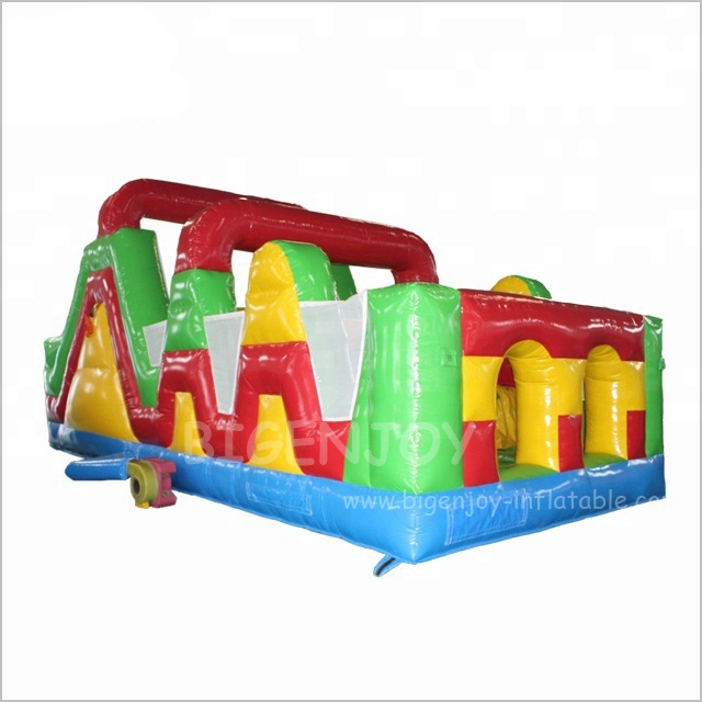 Air Blow up Bouncy Slide Inflatable Running Sport Games Commercial Inflatable Cheap Obstacle Course