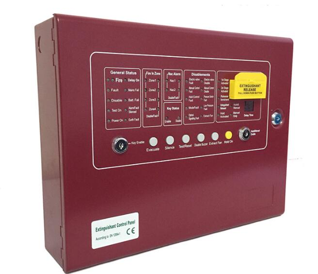 Automatic Extinguisher Control Panel Fire Suppression Panel 4zones for Gas Extinguisher Fire Fighting System