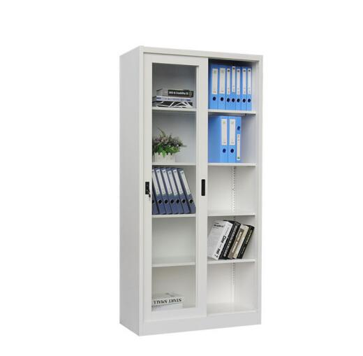 Glass Sliding Door Steel File Cabinet