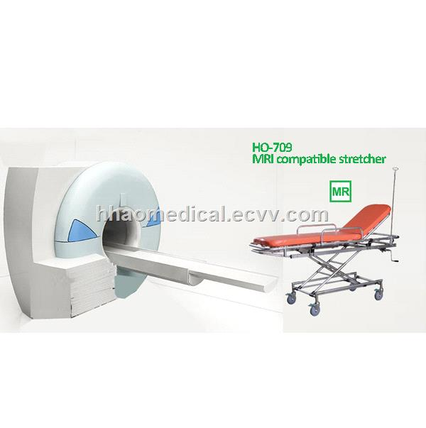 China Height adjustable MRI compatible stretcher for MRI room