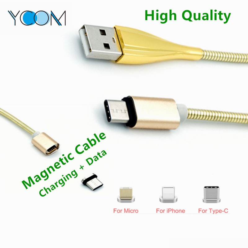 Spring Stainless Braid Magnetic USB Cable for Micro/Type-C/IOS