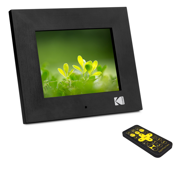 KODAK 8in Digital Photo Frame, Digital Picture Frame Electronic Photo Album with Remote Control, 1080P IPS LCD Screen,