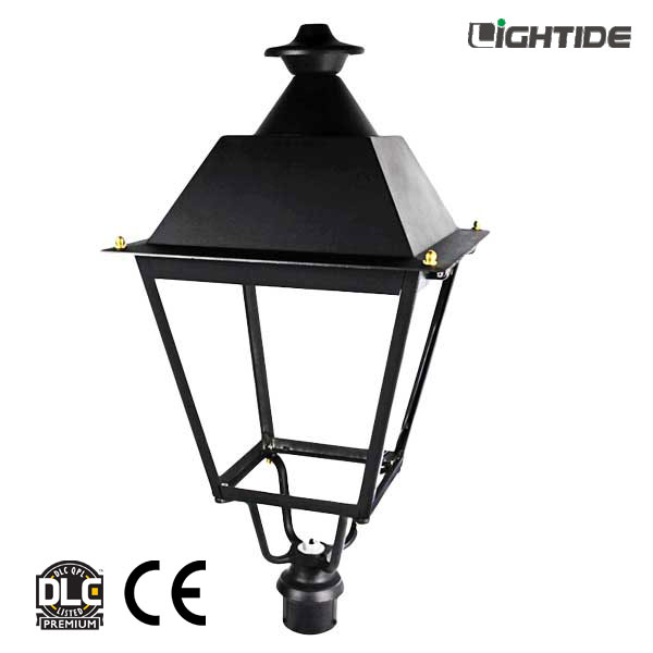 Outdoor Post Top Lights for Path & Garden Lights 50W LED, DLC QPL & 5 Yrs Warranty