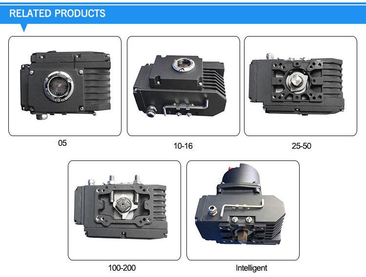 AC220V DC24V partturn ball valve butterfly valve electric actuator
