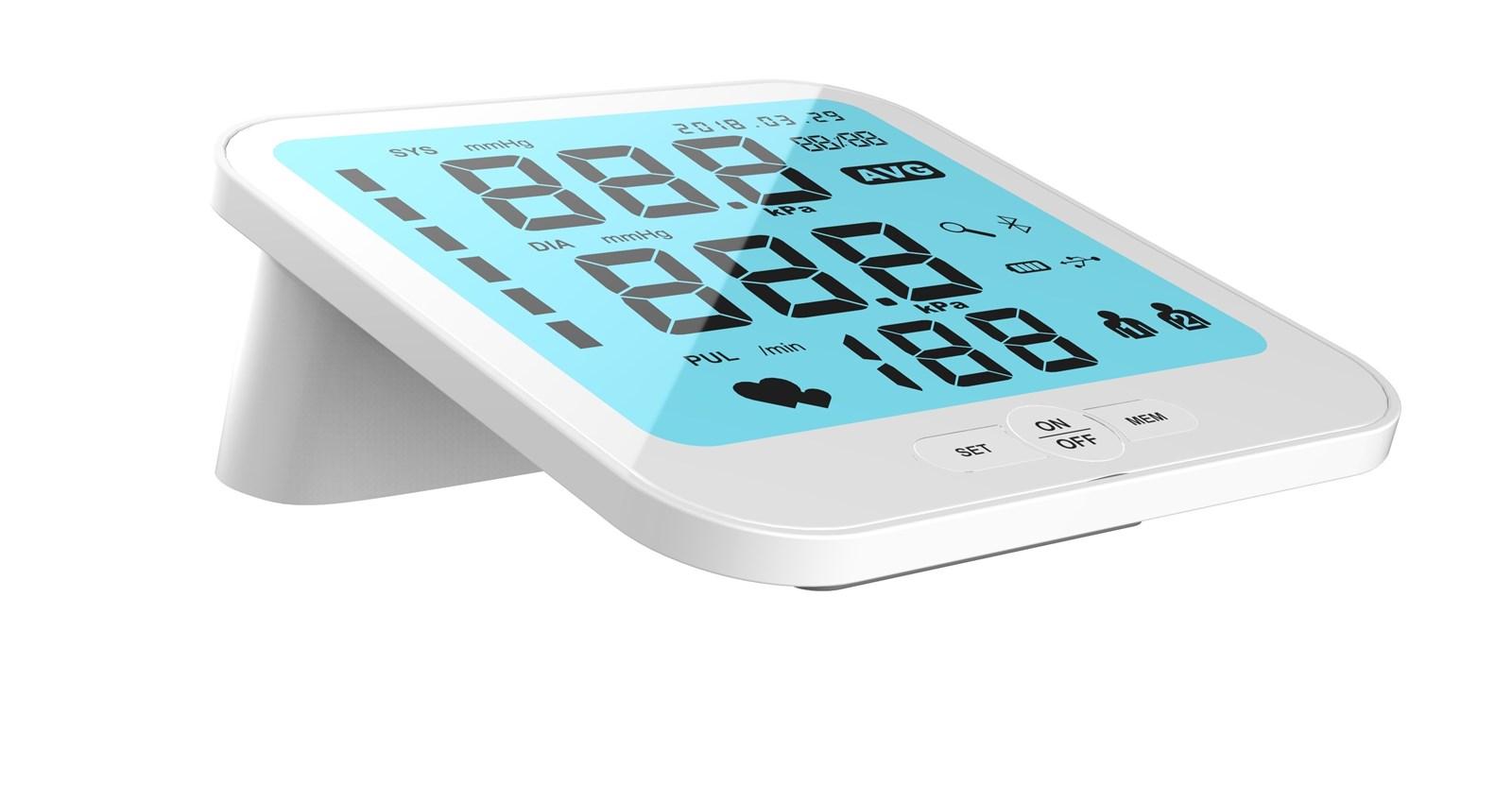 large LCD digital display arm blood pressure monitor