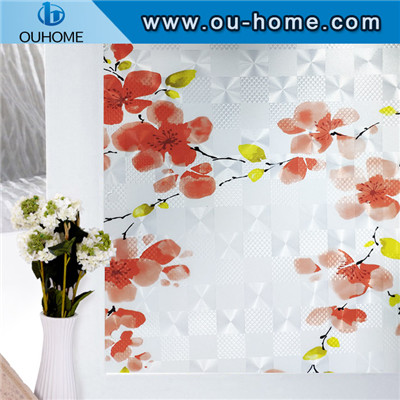 H12439 Printed Decorative Privacy Static Window Film