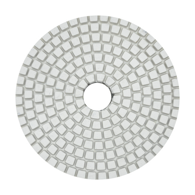 4 Inch Diamond Resin Granite Marble Wet / Dry Flexible Polishing Pad for Angle Grinder