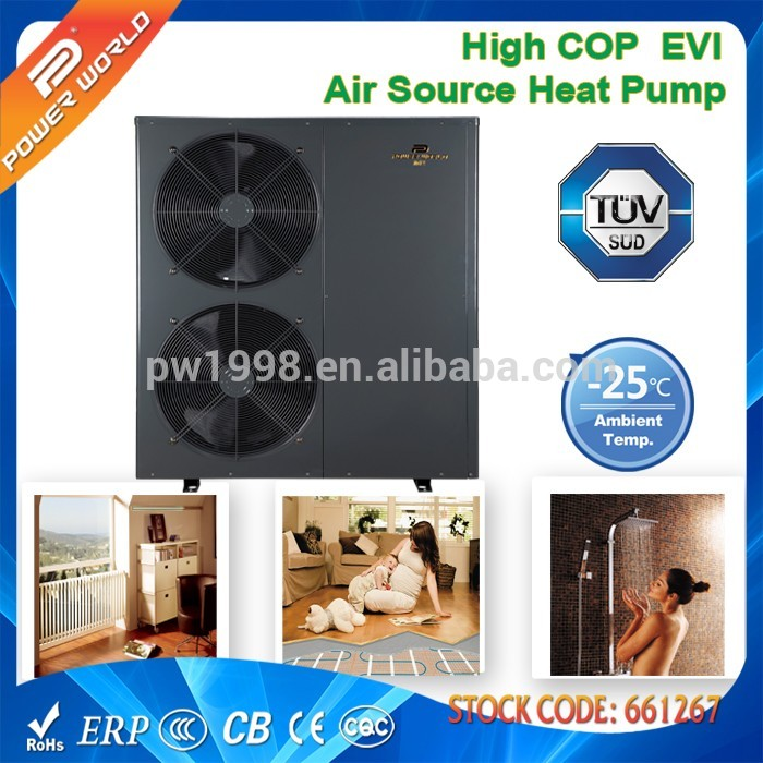 EVI DC Inverter Heat Pump for Heating Cooling&Hot Water