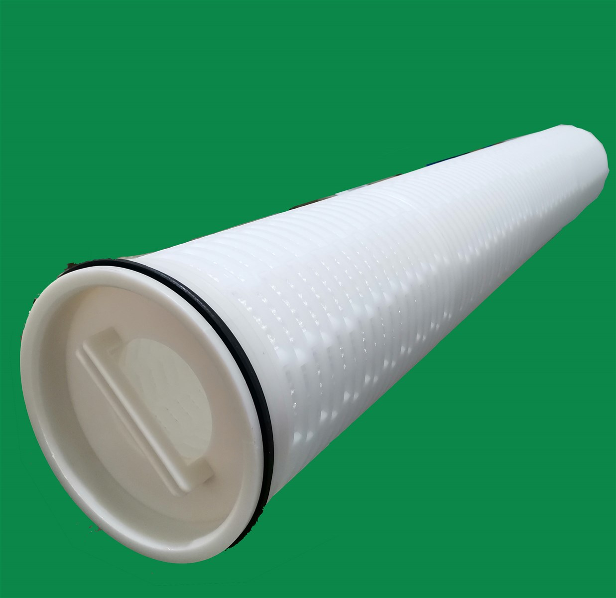 Pleated High Flow Filter Cartridge for Desalinization of Seawater