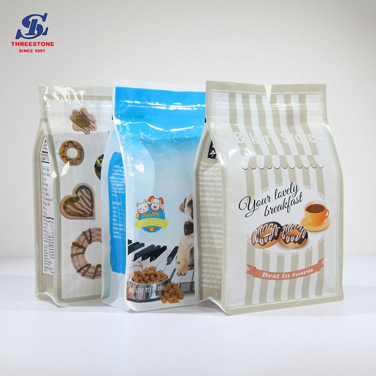 Flat Bottom Packaging Bags, Quad Sealed Bags, Stand up Pouch