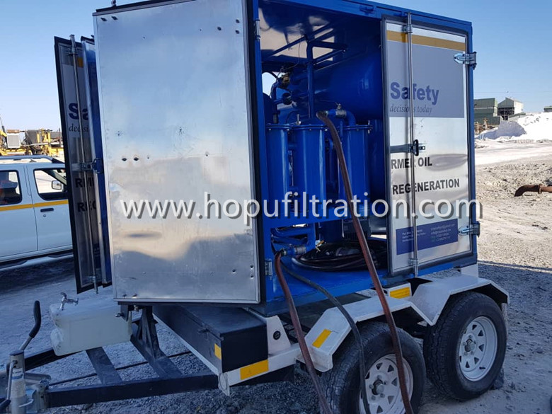 Fully Enclosed Trailer Movable Transformer Oil Processing & Filtration Machine, Rainproof, Easy to Transport