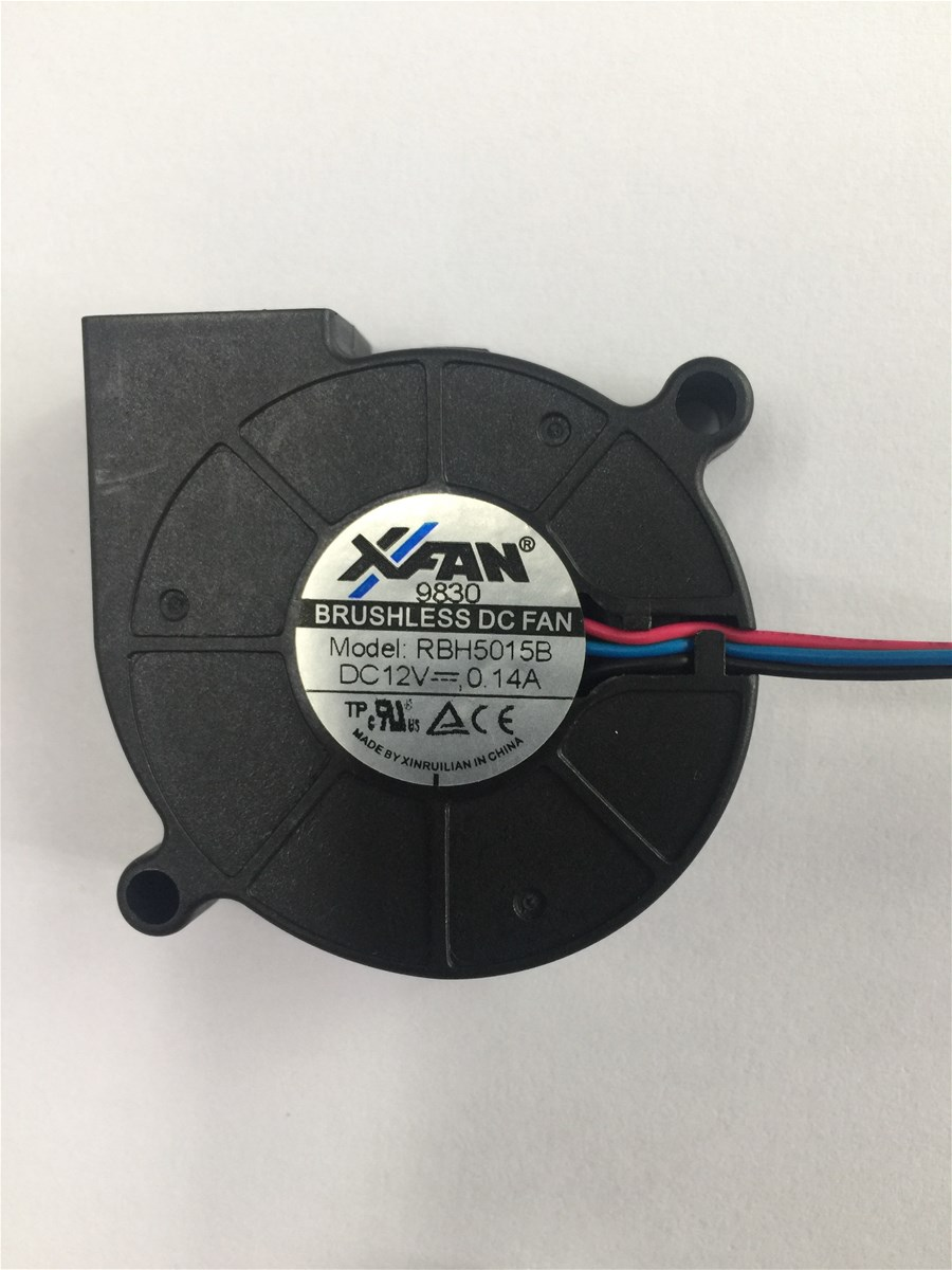 DC Blower Fan, 50x50x15mm, 12V, 5000RPM, 0.14A, 3 Wires