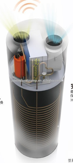 Air Source Sanitary 2kW All in One Domestic R134a Hot Water High COP Air to Water 100-500L Heat Pump Juteng with Certifi
