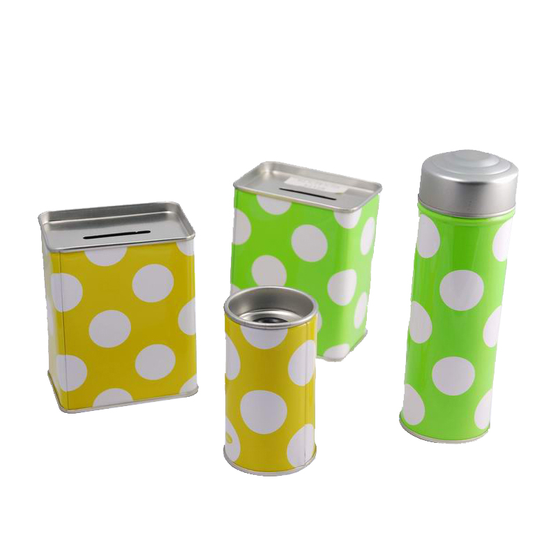 the Creative Cash Tin Can, Coins Tin Holder, Money Metal Box with Colorful Printing