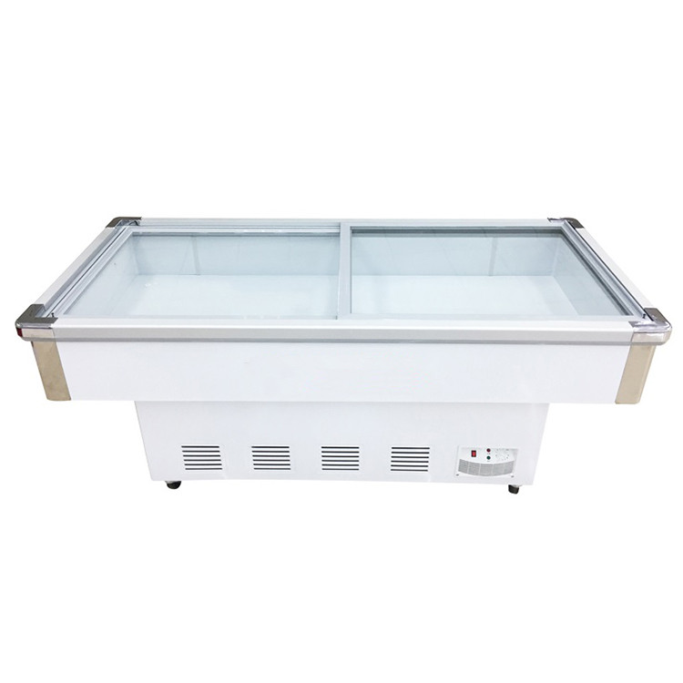 Hot Sale Sliding Glass Door Meat Seafood Display Refrigerator Showcase
