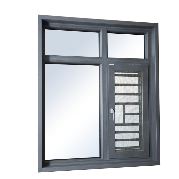 Utench Brand Aluminum Casement Window with Tempered Glass
