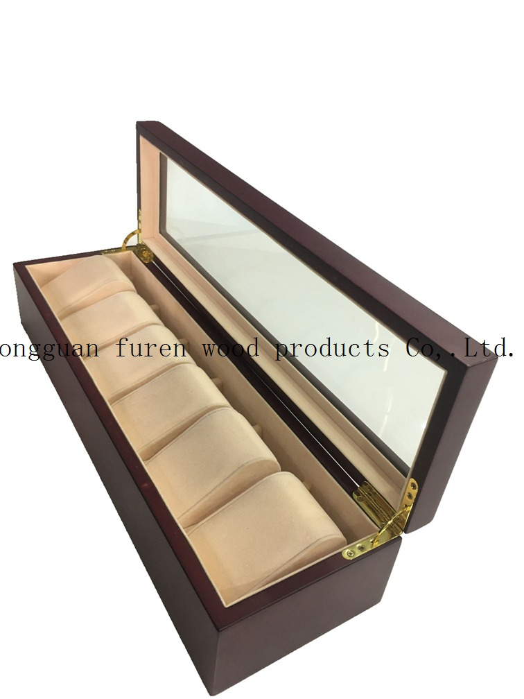 High Quality Customized Wooden Watch Storage Box with 8 Slots