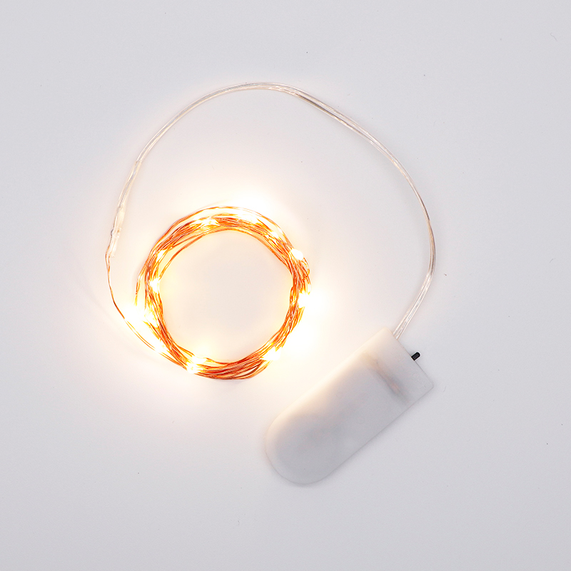 7.2' 20 LED Battery Operated Fairy Lights Mini Copper Wire Firefly String Lights
