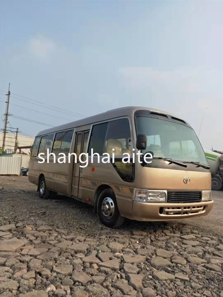 LHD Steering Second Hand Toyota Coaster with 30 Seats for Sale In Shanghai