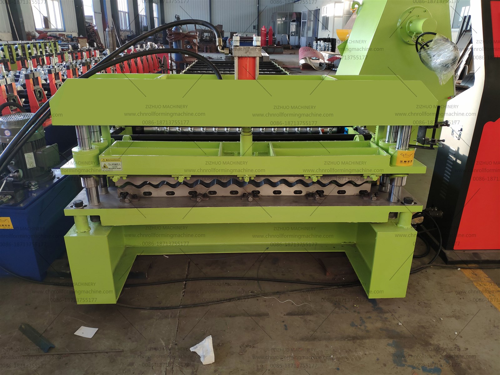 Metal Corrugated Sheet Roll Forming Machine For Roofing