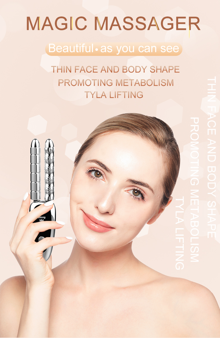 Trending products 2019 new arrivals electronic EMS magic neckarm face massager